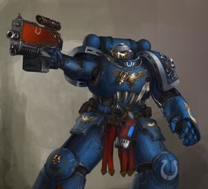 Ultramarine with bolter