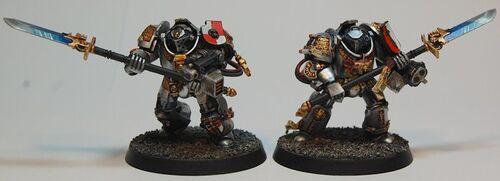 Miniatura caballeros grises exterminadores arma nemesis