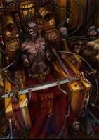 Emperador en trono dorado