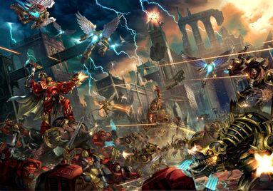Marines angeles sangrientos vs legion negra 02