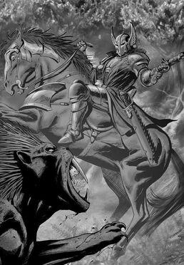 Preheejia caballero de caliban vs gran bestia