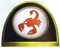 Emblema Escorpiones Rojos FW ilustración