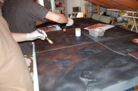 Pintura tablero modular 03