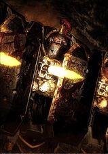 Escuadra Exterminadores Justaerin Escudos de Abordaje Hijos de Horus