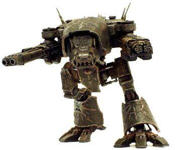 Mechanicum Oscuro Titan Ligero Warhound del Caos Wikihammer