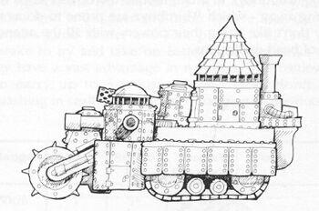 Fortaleza Rodante Mueletripaz Orkos Epic ilustración