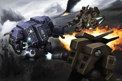 40k Dreadnought fight final by thevampiredio
