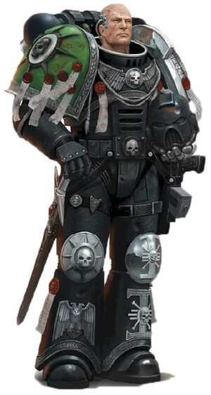 Guardianes de la Muerte Mathias Capitán de la Guardia Cabala Muerta Hijos Medusa Ordo Xenos Wikihammer