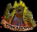 Orkanova orko mascota transparente