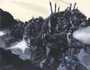 Guerreros de hierro marines del caos batalla