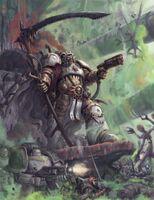 Mortarion luchando contra los Jorgall wikihammer