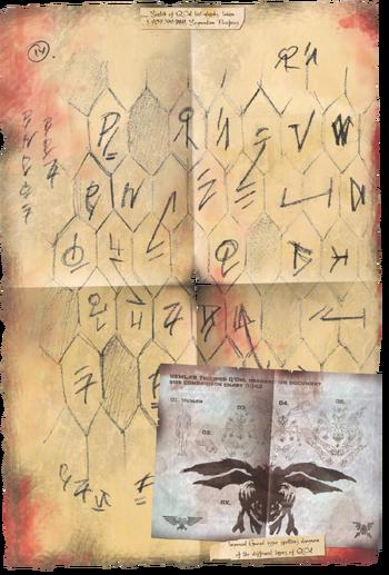 Glifos Q'Orl Xenology ilustración