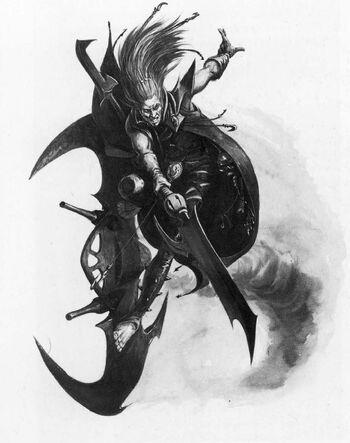 Barón Sathonyx Eldars Oscuros 5ª Edición ilustración