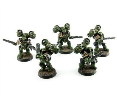 Escuadra Asalto Salamandras Herejía Mk II