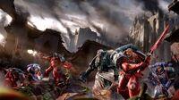 Marines desgarradores carne batalla