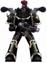 Caos marine esquema legion negra