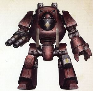 Dreadnought Contemptor Eduhkar Capítulo Sol Serrado Portadores de la Palabra