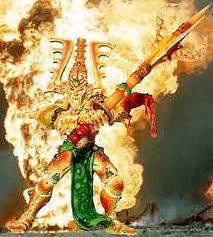 Eldar avatar khaine en llamas