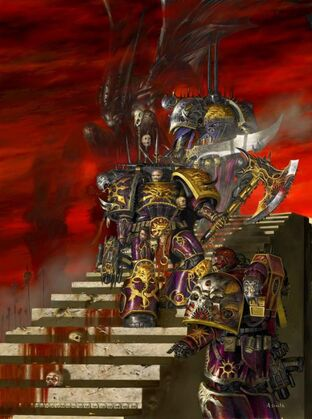 Caos hijos del emperador sirvientes slaanesh