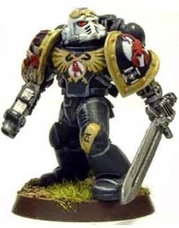 Escorpiones Rojos Sargento Veterano Haas Marines Espaciales Astartes Wikihammer
