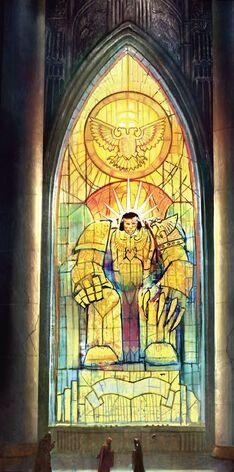 Emperador vidriera Eclesiarquía Warhammer 40k Culto Imperial