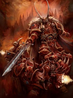 Kranon el Implacable Señor del Caos de los Masacre Carmesí