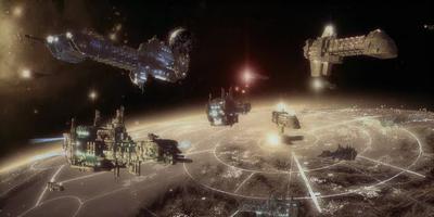 Naves terra órbita espacio