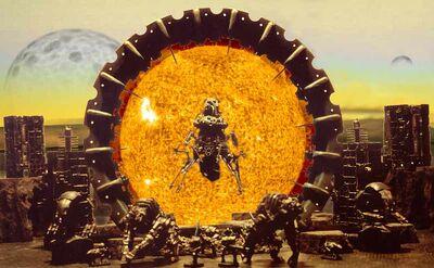 Diorama Puerta Dolmen Necrones Telaraña Wikihammer
