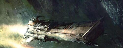 Flota nave asalto tiburón