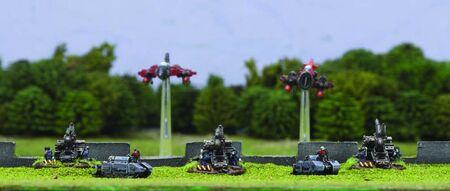 Bruennhildes Blitzens Baran Guardia Imperial Epic diorama