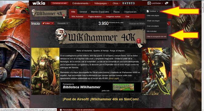 Barra Navegación Extendida Wikia Wikihammer Tutorial 3