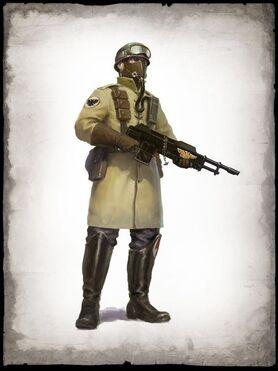 Guardia imperial legion acero armageddon rifle laser