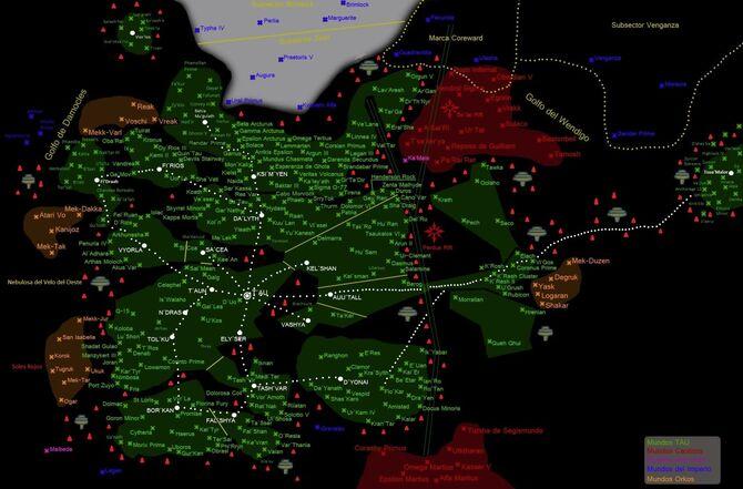 Mapa Imperio Tau 40k Empire Isoroku wikihammer