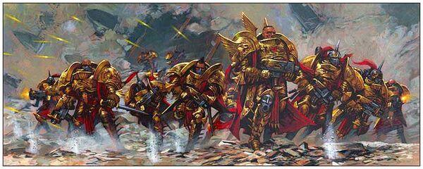 Adeptus custodes avance batalla