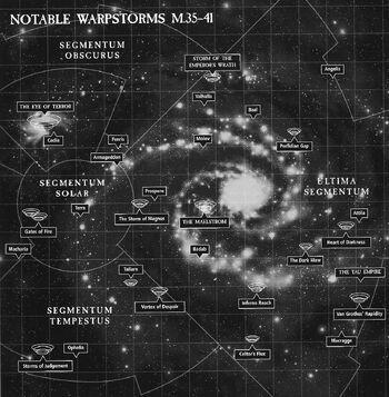 Tormentas Disformes Disformidad Mapa Galaxia 40K