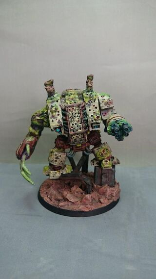 Dreadnough Nurgle 40k 1 propainted