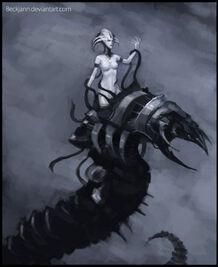 Fanart CTan El Embaucador Mephetran Serpiente Necrones Wikihammer