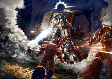 Batalla Caballeros Grises vs Berserkers Exterminador Khorne