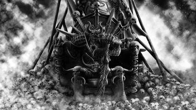 Khorne Dios de la Sangre Trono de Cráneos
