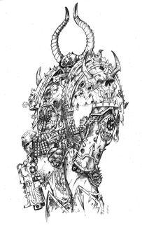 Marine del Caos armadura demonio