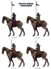 Uniformes Jinetes de la Muerte Krieg Guardia Imperial Forge World ilustración
