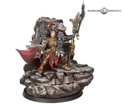 Constantin Valdor Capitán General Custodes Forge World miniatura