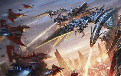 Eldar caza espectral hemlock vs dragones caos