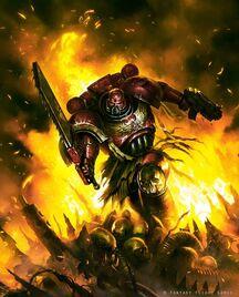Marines angeles sangrientos vs orkos montaña craneos wikihammer