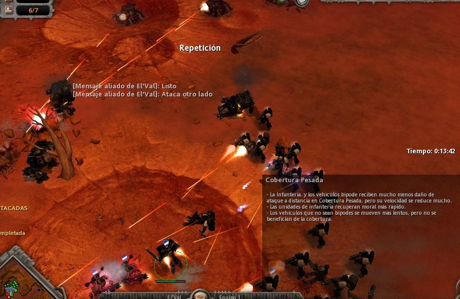 27 El Land Speeder también explota, pero los Dreadnoughts decantan la victoria.