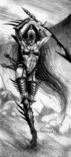 Lelith Hesperax Eldars Oscuros 3ª Edición ilustración