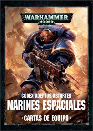 Cartas de equipo warhammer 40k marines espaciales