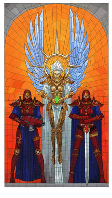 Sororitas vidriera santa en vida wikihammer