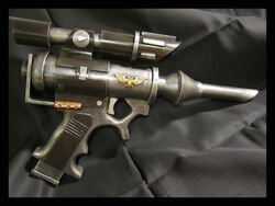 Cosplay pistola agujas galviana