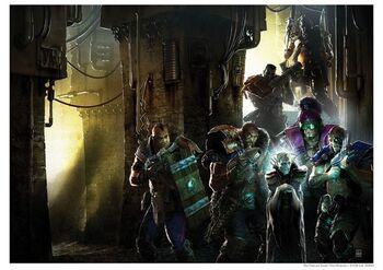Poster los muertos exiliados